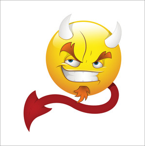 Smiley Emoticons Face Vector - Devil