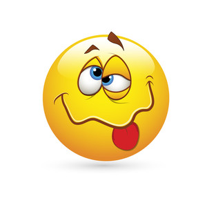 Smiley Emoticons Face Vector - Drunked Expression