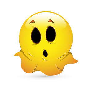 Smiley Emoticons Face Vector - Ghost
