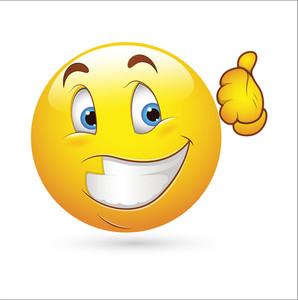 Smiley Emoticons Face Vector - Happy Expression