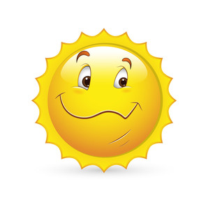 Smiley Emoticons Face Vector - Happy Sunny Look