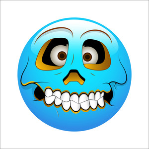 Smiley Emoticons Face Vector - Hollow