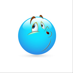 Smiley Emoticons Face Vector - Ignoring