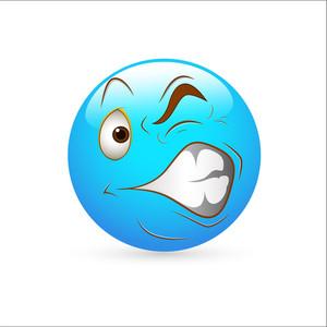 Smiley Emoticons Face Vector - Irritation