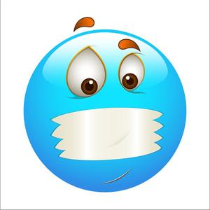 Smiley Emoticons Face Vector - Mouth Shut