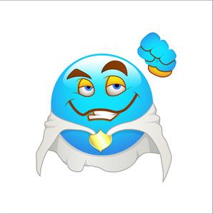 Smiley Emoticons Face Vector - Power