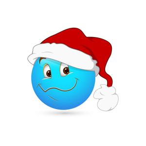 Smiley Emoticons Face Vector - Santa
