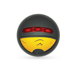 Smiley Emoticons Face Vector - Secret Agent