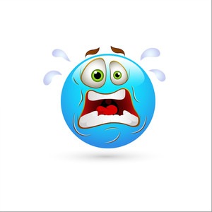 Smiley Emoticons Face Vector - Shocked