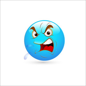 Smiley Emoticons Face Vector - Shout