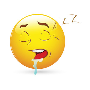 Smiley Emoticons Face Vector - Sleeping Expression