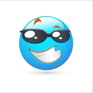 Smiley Emoticons Face Vector - Smart Expression