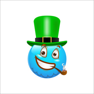 Smiley Emoticons Face Vector - St. Patrick's Day