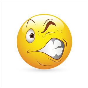 Smiley Emoticons Face Vector - Strange Expression