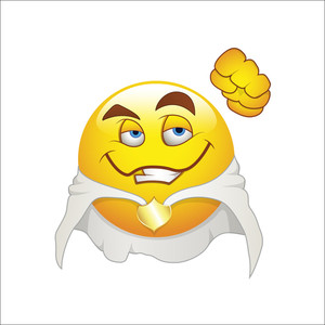 Smiley Emoticons Face Vector - Super Hero