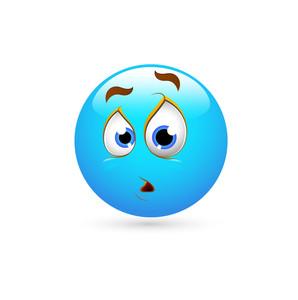Smiley Emoticons Face Vector - Surprised