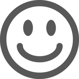 Smiley Face Stroke Icon