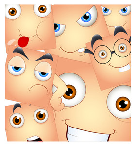 Smiley Faces Expressions Background