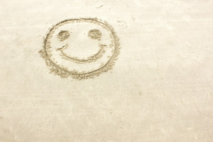 Smiley On Sand