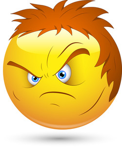 Smiley Vector Illustration - Angry Lout Face