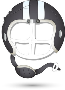 Smiley Vector Illustration - Athlete Helmet