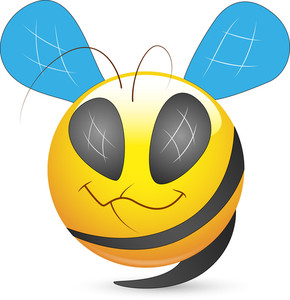 Smiley Vector Illustration - Bee Face