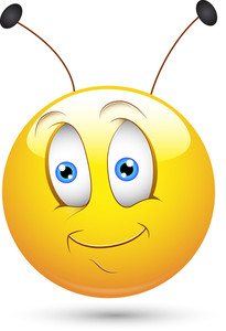 Smiley Vector Illustration - Bee With Antenna