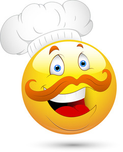 Smiley Vector Illustration - Chef Face