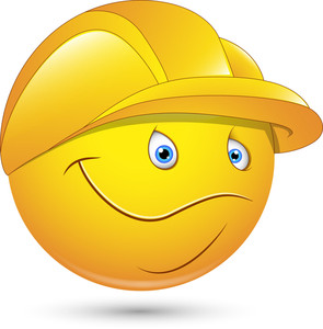 Smiley Vector Illustration - Constructional Worker