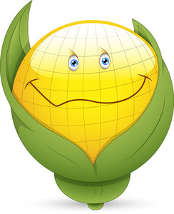 Smiley Vector Illustration - Corn Face