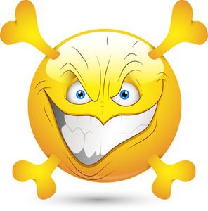 Smiley Vector Illustration - Creepy