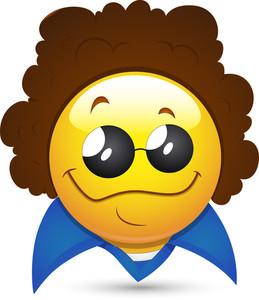 Smiley Vector Illustration - Disco Artist Face