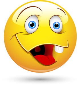 Smiley Vector Illustration - Dumb Face