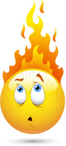 Smiley Vector Illustration - Fire On Head