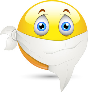 Smiley Vector Illustration - Handkerchief On Face