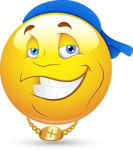 Smiley Vector Illustration - Hip-hop Dancing Artist Face
