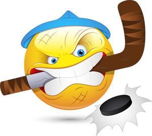 Smiley Vector Illustration - Hockey Player Face