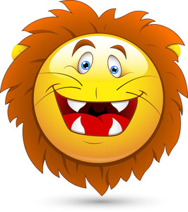 Smiley Vector Illustration - Lion Head