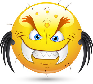 Smiley Vector Illustration - Monster