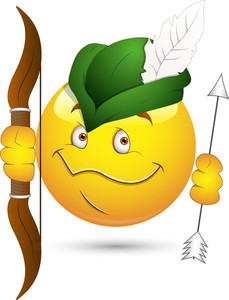 Smiley Vector Illustration - Robin Hood Face