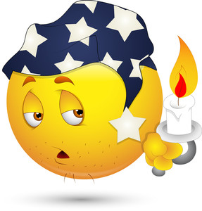 Smiley Vector Illustration - Sleepily Face With Candle