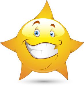 Smiley Vector Illustration - Star Face