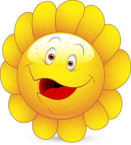 Smiley Vector Illustration - Sunflower