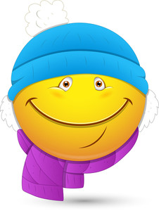 Smiley Vector Illustration - Winter Costume Face
