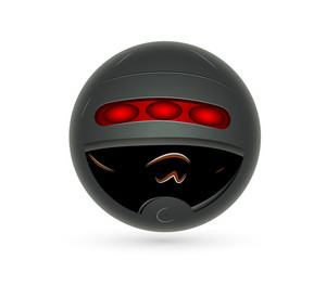 Smiley With Helmet Vector