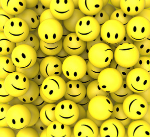 Smileys Show Happy Cheerful Faces