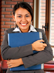 Smiling Asian Girl With Laptop