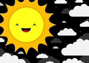 Smiling Cartoon Sun