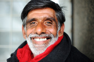 Smiling happy old person