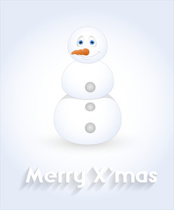 Smiling Snowman Character